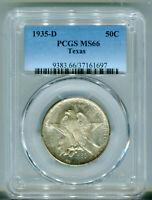 1935 D Texas Commemorative Half Dollar PCGS MS66 Mint State 66