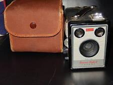 Vintage KODAK Brownie Flash II Box Camera with case, Fast postage