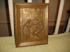 Vintage Victorian Style Religious Wall Plaque-Bronze Plaster-King & Queen-Lqqk
