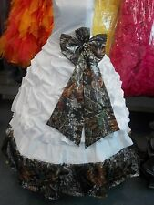 Camo / White satin Wedding Dress