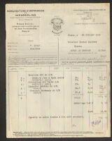 PARIS (II°) USINE de WESSERLING (68) MANUFACTURE D'IMPRESSION sur TISSUS en 1936