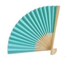 100 AQUA BLUE Paper Fans Beach Garden Wedding Favors
