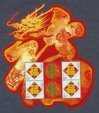 CHINA 2012-1 Lunar New Year of DRAGON 4v Special mini-pane龙型