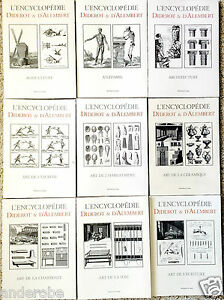 Diderot/d'Alembert-L'ENCYCLOPEDIE Huge SET of 33 Individual VOLUMES Text/PLATES