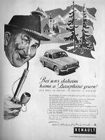 PUBLICITÉ DE PRESSE 1958 DAUPHINE RENAULT EN ALLAMAGNE ON PRÉFÈRE LA DAUPHINE