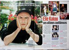 ELIE KAKOU => coupure de presse 2  pages 1999 !!!