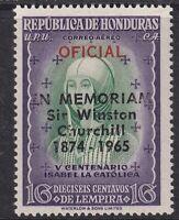 HONDURAS 20 DEC 1965 WINSTON CHURCHILL 16L OFFICIAL COMMEMORATIVE STAMP MH