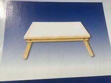 Able 2 adjustable wooden bed tray with laminated top .