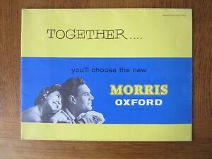 Original Motoring sales brochure, The Morris Oxford series V. 1959
