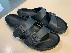 BIRKENSTOCK Men's Black Foam Slide Sandals Size 46