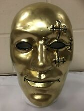UK DANNY BOY GOLD HOLLYWOOD UNDEAD PLASTIC HALLOWEEN MASK FANCY DRESS UP CD BAND