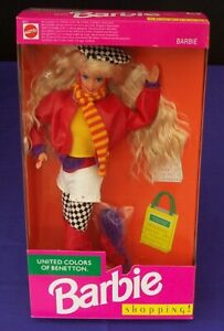 Barbie Shopping United Colors Of Benetton Doll Mattel # 4873 c1991