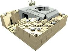 CUSTOM building INSTRUCTION for WW2 TOBRUK BUNKER to build out of LEGO® parts