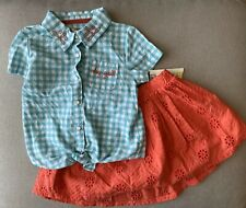 Girls Genuine Kids by Oshkosh Shirt Skirt 5T Gingham...