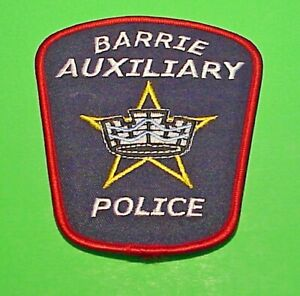 """BARRIE  ONTARIO  CANADA  AUXILIARY 4 1/2""""  POLICE PATCH  FREE SHIPPING!!!"""