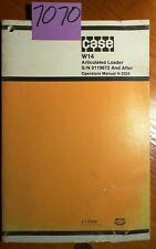 Case W14 Articulated Loader Sn 9119672 Operators Manual 9 3324 1281