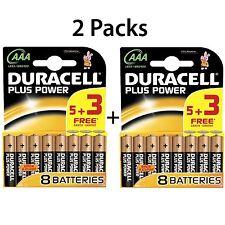 10 + 6 gratis Baterías AAA Duracell Plus Power 1.5V Batería Alcalina LR03 MN2400