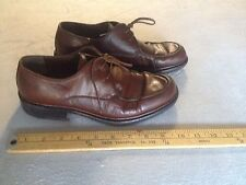BALLY ITALY RETINO LEATHER MEN'S OXFORD SHOES US 7 BROWN