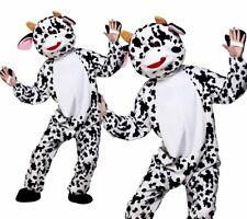 Adult Cute Cow Mascot Costume Unisex Farm Animal Fancy Dress Outfit New