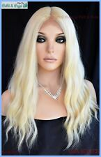 LACE FRONT DEEP MIDDLE LACE PART LONG WAVY HEAT FRIENDLY WIG CLR 613 SEXY 1258