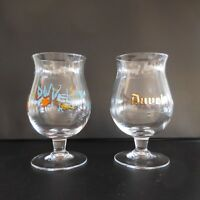 2 chopes à bière tulipe 33 CL DUVEL en verre made in Belgium