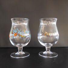 2 chopes à bière tulipe 33 CL DUVEL en verre made in Belgium