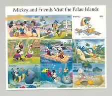 Palau #340 Disney, Fish, Shells, Turtles 1v M/S of 9 Imperf Chromalin Proof