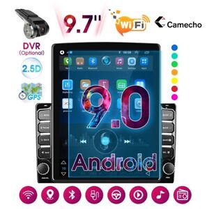 2 Din Android 9.0 9.7'' Vertical Car Stereo Radio GPS Navi Bluetooth USB Player