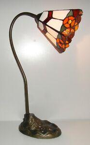 Tiffany Flower Swan Neck Table Lamp R53