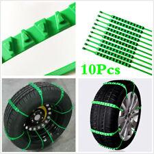 Triangle Car Anti-skid Snow Tyre Tire Chains Reusable Nylon Wheel Chain Belt x10