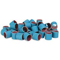 "No Lap Sanding Sleeves 1/"" x 1-1//2/"" Aluminum Oxide Spiral Bands 10 Pack"