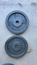 """(2) 4kg Dumbbell Barbell 1"""" Weight Plates 16.8lbs Total FREE 🚛💨 SHIP"""