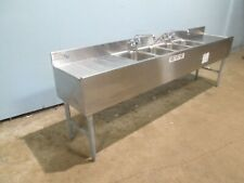 """Eagle"" Commercial H.D. (Nsf) Ss 96""W - 4 Compartments Under Counter Bar Sink"