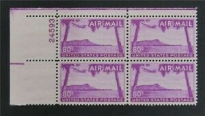 nystamps US Air Mail Plate Block Stamp # C46 Mint OG NH P# 4   S17y936