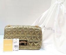 Michael Kors 30H7MSLL9M Sloan Metallic Gold Leather Large Chain Shoulder Bag