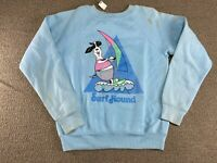 Surf Hound Sweatshirt Crewneck Heartland Beach Dog Animal Surfing YOUTH 80s VTG