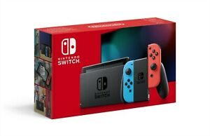 Nintendo Switch Neon Red and Blue Ext. Battery Life Console
