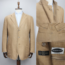 Recent CORNELIANI Pure LINEN Beige Patch Pocket Jacket Sport Coat 54IT 44US/UK