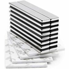 Strong Neodymium Bar Magnets With Double Sided Adhesive Rare Earth 60 X 10 3 Of
