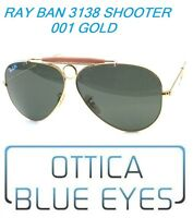 Occhiale da Sole RayBan SHOOTER RB 3138 001 GOLD Ray Ban Johnny Depp Sunglasses