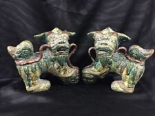 Pair of Antiques Chinese Foo Dogs