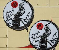 SAMURAI WARRIOR RESPECT patch Japan Japanese KanJi sword BUSHIDO hook
