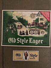 Vintage Old Style Lager Lacrosse Wis Beer And Neck Label Irtp
