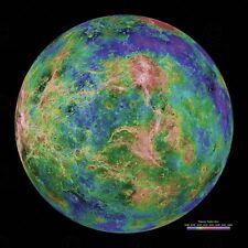 Space Photo Planet Venus Hemispheric Large Wall Art Print Poster Picture Lf2686