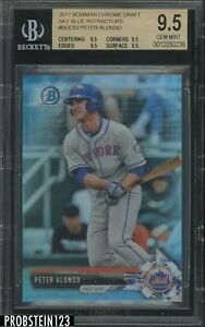 2017 Bowman Chrome Sky Blue Refractor Peter Alonso Mets RC Rookie /399 BGS 9.5