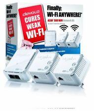 devolo dLAN 500 Wi-Fi Powerline Network Kit 500 Mbps, 3 x PLC Homeplug Adapter,