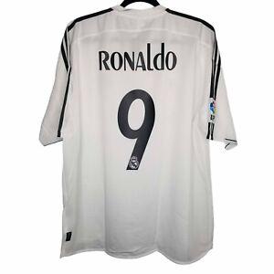 Ronaldo #9 Adidas Real Madrid Home Jersey / Shirt 2002-2004 Sz XL NWT