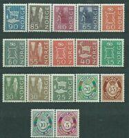 Norway - Mail 1962 Yvert 435/49 MNH