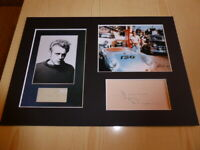 James Dean and his Porsche 550 Spyder mounted photographs & autograph card