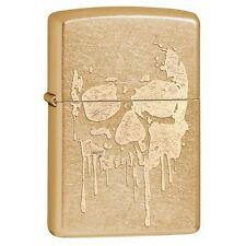 Zippo 29401 Dripping Skull Gold Dust Finish Full Size Lighter
